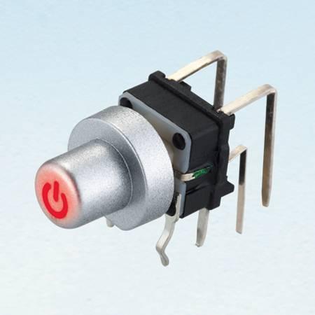 Interruptor de tato iluminado - ângulo reto - Tact Switches (SPL6BL)