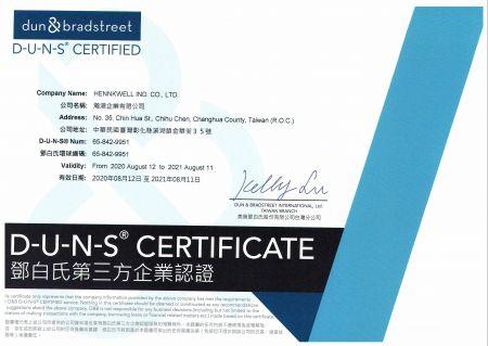 Hennkwell è un'azienda certificata DUNS®.