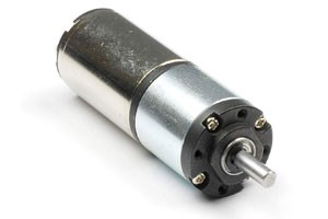 Coreless brush dc motor with gearbox