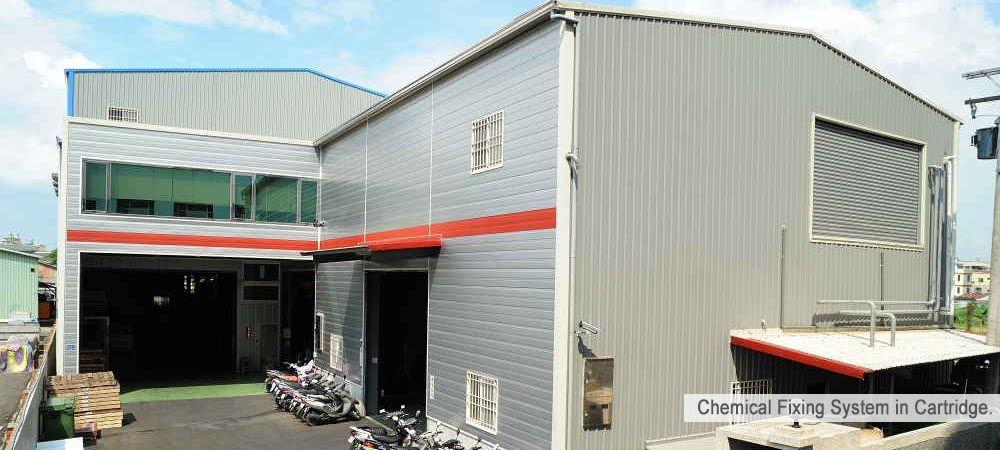 Fábrica localizada em Kaohsiung, Taiwan
