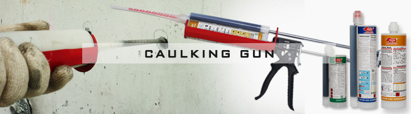 Dual cartridge caulking gun