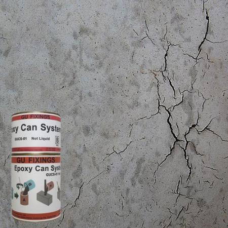 Smooth repair grout over concrete cracks