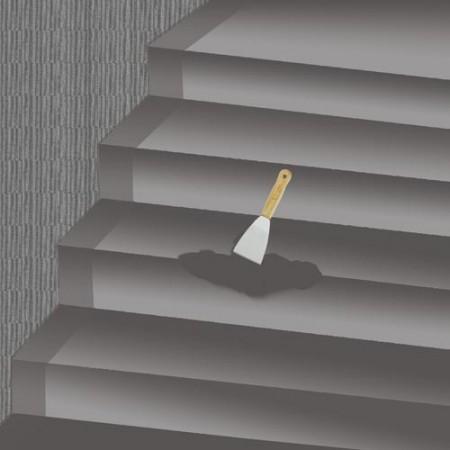 AB glue grout repair for stair crack