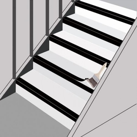 Epoxy adhesive for bonding non slip stair treads