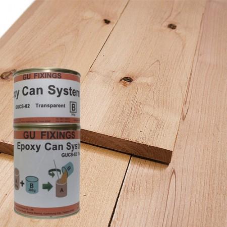 Epoxy wood bonding adhesive system
