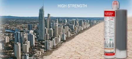 Hochtemperatur-Epoxidverankerung - 650ml zweikomponentiger reiner Epoxid-Sommer-Epoxid-Klebstoff