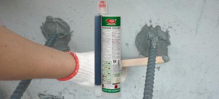 345毫升注射式聚酯植筋膠 - 345毫升雙筒式聚酯植筋膠用於鋼筋混凝土擴建作業