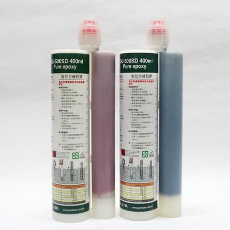 Two component cartridge for epoxy adhesive