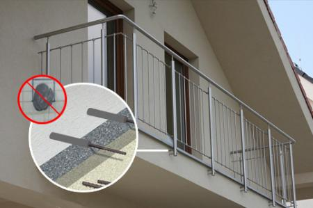 Injection hybrid mortar for fixing balcony railing