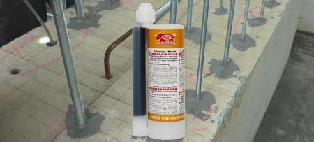 Injekční chemická kotva s vinylesterem o objemu 235 ml - GU-2000 235 ml Bez vinylesteru bez styrenu, chytrá injektážní malta pro kotvení do zdiva a betonu