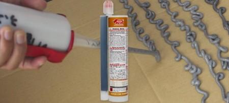 สมอเคมีไวนิลเอสเตอร์แบบฉีดได้ 345 มล - GU-2000 345ml Vinyl ester styrene free ปูนฉีดอันทรงพลังสำหรับการต่อเหล็กเส้นและคอนกรีต