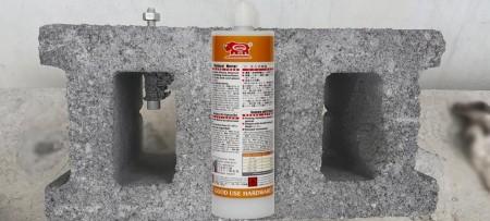 Ancre chimique vinylester injectable 380 ml - GU-2000 380ml Vinyl ester sans styrène, le mortier d'injection à haute adhérence pour un durcissement rapide dans les environnements tropicaux