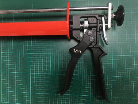 Branding on manual caulking applicator trigger