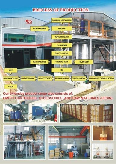 مصنع مرساة كيميائية ، ملصق خاص ، صيغة مخصصة وعملية إنتاج
