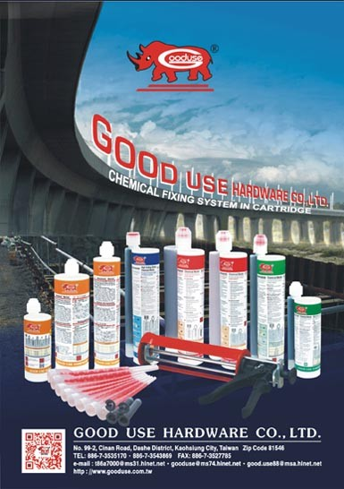 Full range of chemical fixing resin, adhesive dispensing gun, mortar mixing nozzle
