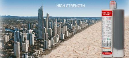 Resina epóxi de construção para âncoras de concreto - Adesivo epóxi para concreto para reforma e reparo de casas