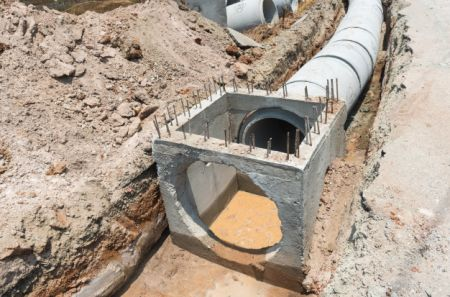 Drainage connection and strengthening