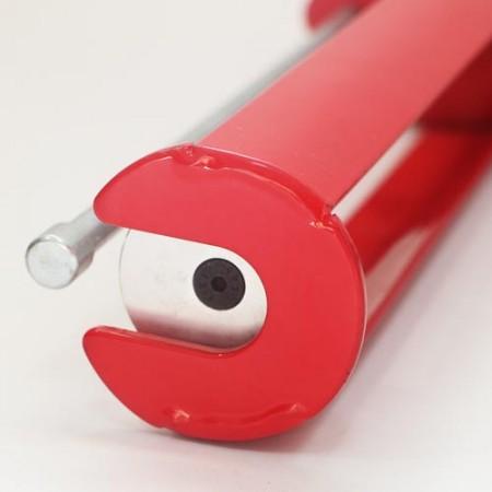 Two component caulking gun of thumb pressure