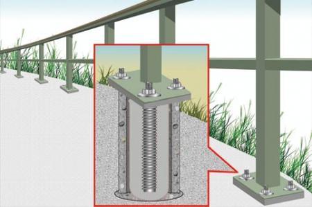 GU-100植筋膠適用於欄杆扶手錨固作業