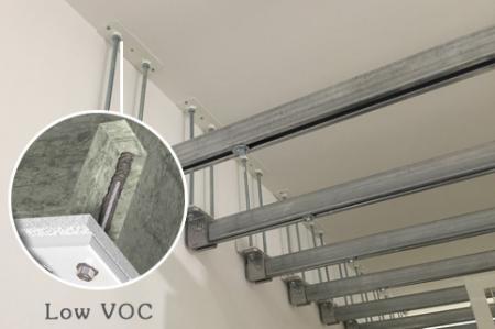低VOC含量雙劑型植筋膠適用於室內作業