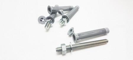 Dia. Manicotto di ancoraggio in nylon grigio da 15 mm per mattoni forati e blocchi - Manicotto di ancoraggio a blocco cavo M8-M10