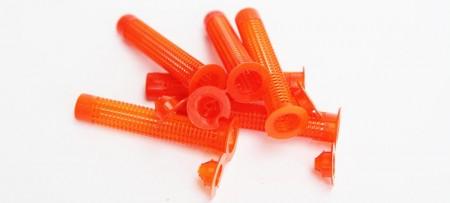 Dia. 15 mm oranžový nylonový kotevní návlek pro duté cihly a bloky - M8-M10 chemické kotevní pouzdro