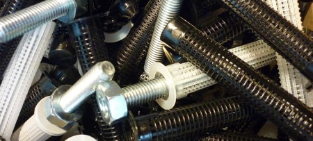 Dia. 15mm nylonové kotevní pouzdro pro duté cihly a bloky - M8-M10 fixační injekční pouzdro