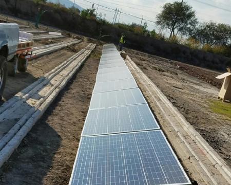 نظام تركيب الألواح الشمسية مع مرساة كيميائية إيبوكسية استوائية