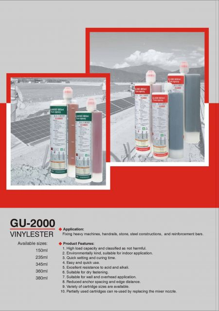 Fast curing vinyl ester chemical fixing resin