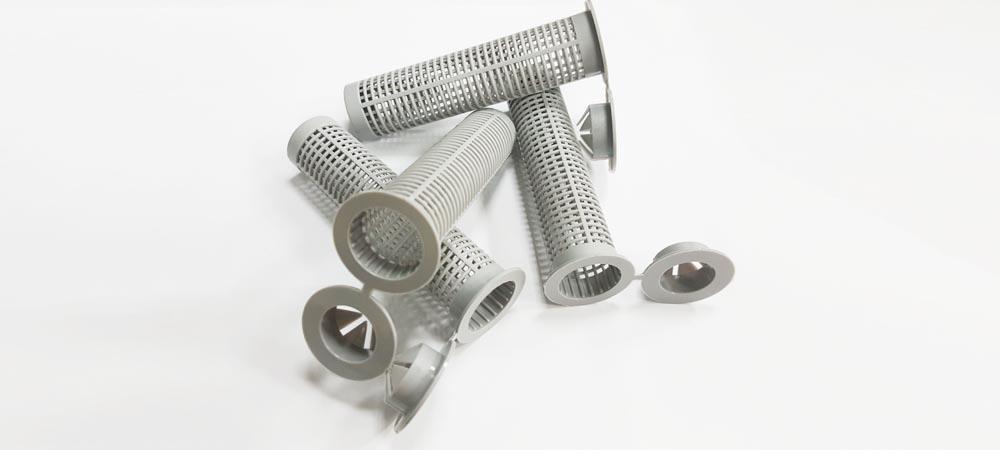 Gray sleeve nylon M20 x 85