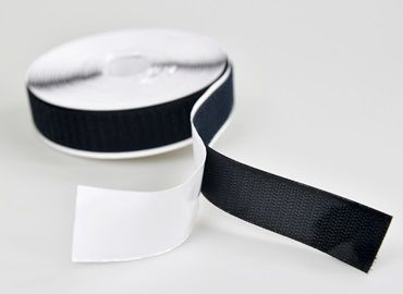 Adhesive fastening tape applies pressure-sensitive adhesive on back of tape, performing good adhesion and holding power.