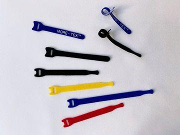 黏扣帶可延伸製成各式成品帶,包含車縫包邊帶、加工綁帶、線材綁帶、客製包裝。
