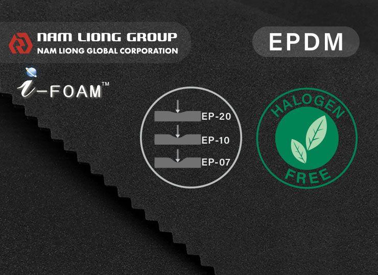 A espuma EPDM regular tem excelente resistência às intempéries.