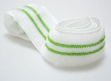 Fita de malha tricotada - Laço macio e elástico, pode engatar com fechos de gancho.