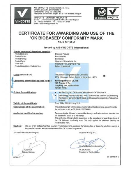 Vincotte 歐盟生質認證