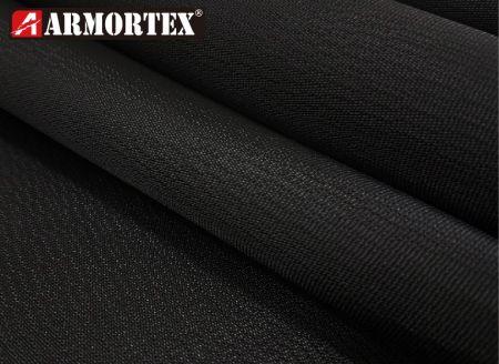 黑色凱芙拉®與特多龍上膠梭織耐磨布 - 黑色梭織上膠耐磨布