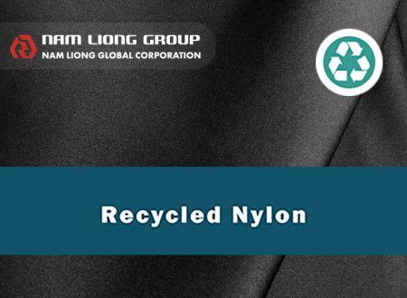 Laminasi kain Nilon daur ulang - Kain nilon daur ulang dilaminasi dengan spons karet.