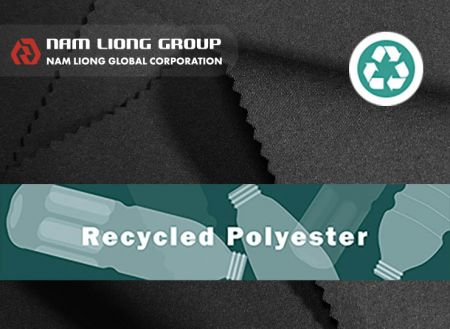 Recycled Polyester fabric laminate - The recycled polyester fabric laminated with the rubber sponge.