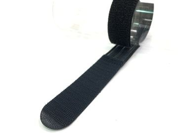 Strap with silicon back and flat end tip, for anti-slip and simple tear