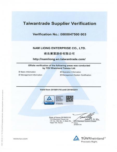 TÜV-Rheinland sertifikalı