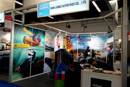 2017 Techtextil Frankfurt booth