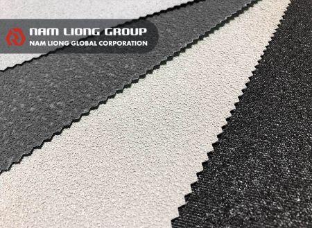 回收橡膠海綿止滑布 - 聚酯平織布上佈以回收橡膠海綿碎粒以達止滑效果