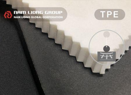 Busa penyerap goncangan - Busa berbasis termoplastik elastomer (TPE) dengan teknologi peredam kejut.