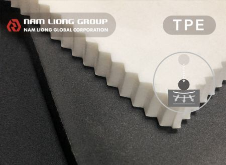 Shock-absorbing Foam - Thermoplastic elastomer (TPE) based foam with shock-absorbing technology.