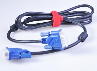 フックアンドループケーブルタイ - ワイヤーを束ねて整理するための再利用可能なケーブルタイ。