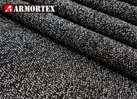 針織黑白色耐切割布 - ARMORTEX® 針織耐切割面料
