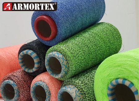 耐切断性糸 - 高靭性耐切断性複合毛糸および糸。