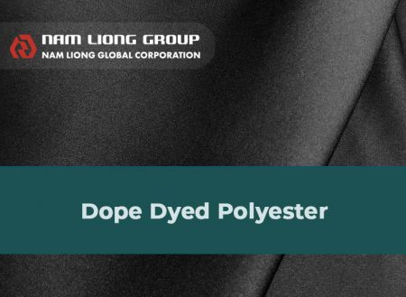 Dope Dyed Polyester fabric laminate