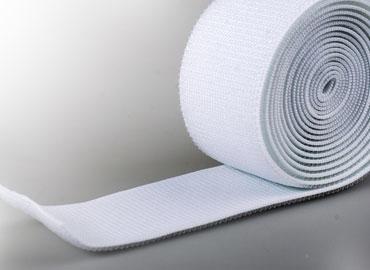 伸縮黏扣帶 - 採醫療環保級Spandex橡膠絲與特殊原料織製,彈性佳不易老化。