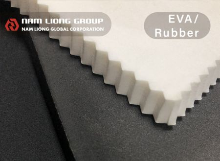 EVA/rubber Foam - EVA/Rubber foam is the sponge with closed-cell structure. Light-weight and easy-fabrication. Rubber-compounded polymer brings better resilience to the material.